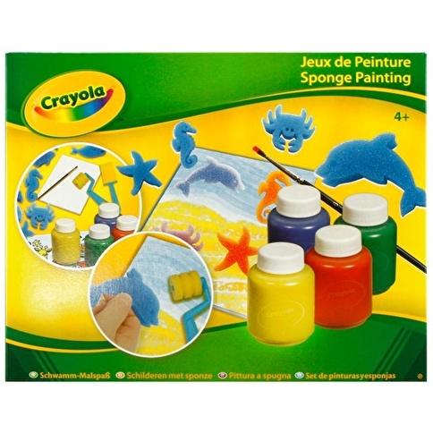 Crayola Crayola Şablon & Sünger Boyaması Renkli